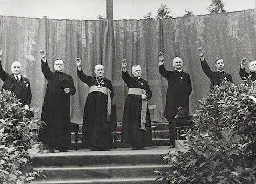 Priests Nazi salute