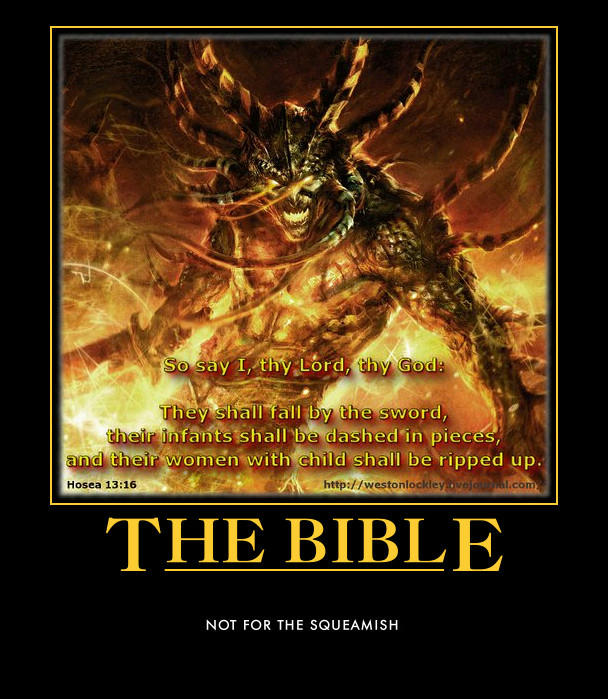 Bible Hosea 13 16 evil demon Yahweh